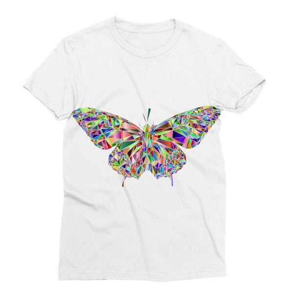 Colorful Crystal Butterfly Sublimation T-Shirt Xs Apparel