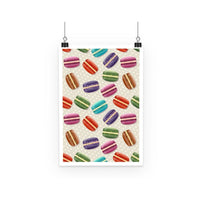 Colorful Macarons Pattern Poster A2 Wall Decor