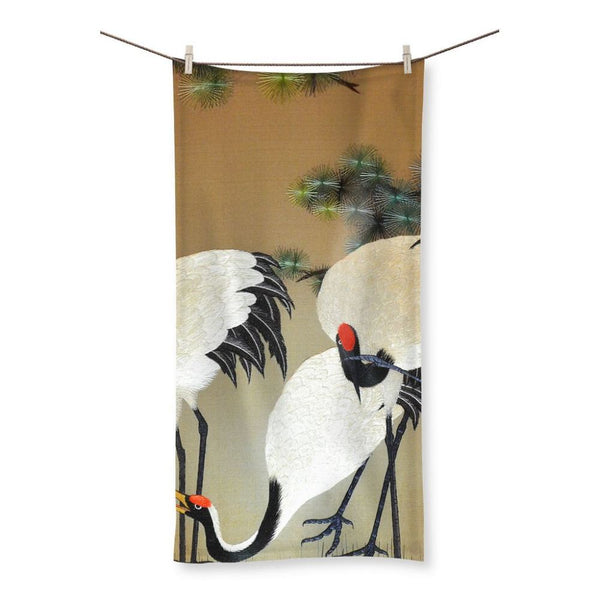 Colorful Painting Of Egrets Beach Towel 19.7X39.4 Homeware