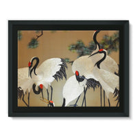 Colorful Painting Of Egrets Framed Canvas 16X12 Wall Decor