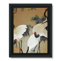 Colorful Painting Of Egrets Framed Canvas 24X32 Wall Decor