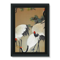 Colorful Painting Of Egrets Framed Canvas 24X36 Wall Decor