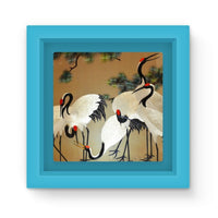 Colorful Painting Of Egrets Magnet Frame Light Blue Homeware