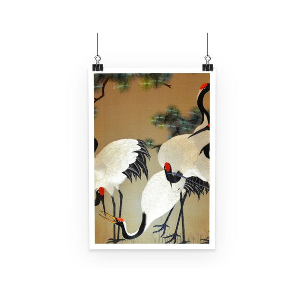 Colorful Painting Of Egrets Poster A3 Wall Decor