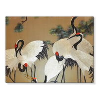 Colorful Painting Of Egrets Stretched Canvas 16X12 Wall Decor