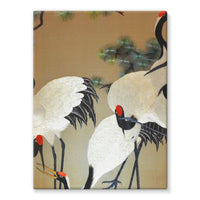 Colorful Painting Of Egrets Stretched Canvas 24X32 Wall Decor