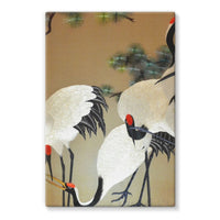 Colorful Painting Of Egrets Stretched Canvas 24X36 Wall Decor