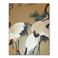 Colorful Painting Of Egrets Stretched Eco-Canvas 11X14 Wall Decor