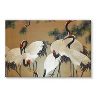 Colorful Painting Of Egrets Stretched Eco-Canvas 36X24 Wall Decor