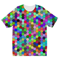 Colorful Pentagon Shape Kids Sublimation T-Shirt 3-4 Years Apparel