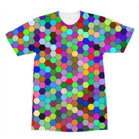 Colorful Pentagon Shape Sublimation T-Shirt Xs Apparel