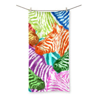 Colorful Zebras In Africa Beach Towel 27.5X55.0 Homeware