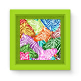 Colorful Zebras In Africa Magnet Frame Green Homeware