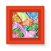 Colorful Zebras In Africa Magnet Frame Red Homeware