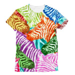 Colorful Zebras In Africa Sublimation T-Shirt Xs Apparel