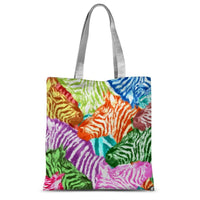 Colorful Zebras In Africa Sublimation Tote Bag 15X16.5 Accessories