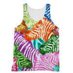 Colorful Zebras In Africa Sublimation Vest Xs Apparel