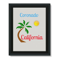 Coronado California Framed Canvas 12X16 Wall Decor