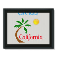 Coronado California Framed Canvas 16X12 Wall Decor