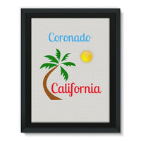 Coronado California Framed Canvas 18X24 Wall Decor