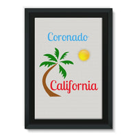 Coronado California Framed Canvas 20X30 Wall Decor