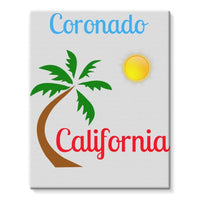 Coronado California Stretched Eco-Canvas 11X14 Wall Decor
