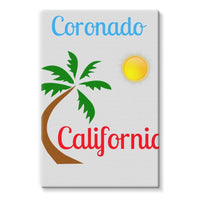 Coronado California Stretched Eco-Canvas 24X36 Wall Decor