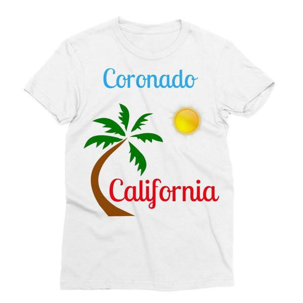 Coronado California Sublimation T-Shirt Xs Apparel