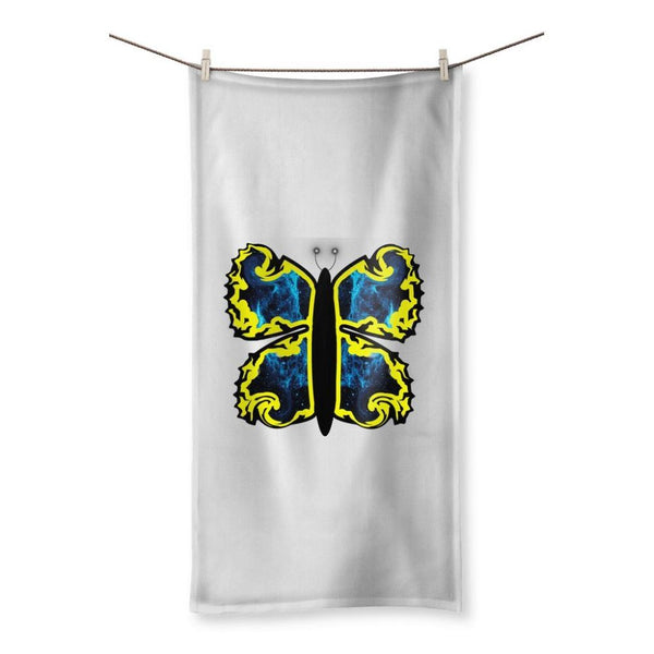 Cosmic Yellow Butterfly Beach Towel 19.7X39.4 Homeware