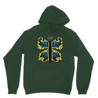 Cosmic Yellow Butterfly Heavy Blend Hooded Sweatshirt S / Forest Green Apparel