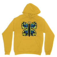 Cosmic Yellow Butterfly Heavy Blend Hooded Sweatshirt S / Gold Apparel