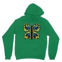 Cosmic Yellow Butterfly Heavy Blend Hooded Sweatshirt S / Irish Green Apparel