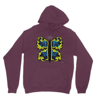 Cosmic Yellow Butterfly Heavy Blend Hooded Sweatshirt S / Maroon Apparel
