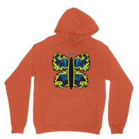 Cosmic Yellow Butterfly Heavy Blend Hooded Sweatshirt S / Orange Apparel