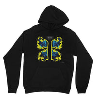 Cosmic Yellow Butterfly Heavy Blend Hooded Sweatshirt Xs / Black Apparel