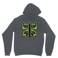 Cosmic Yellow Butterfly Heavy Blend Hooded Sweatshirt Xs / Charcoal Apparel