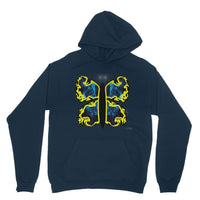 Cosmic Yellow Butterfly Heavy Blend Hooded Sweatshirt Xs / Navy Apparel