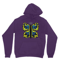 Cosmic Yellow Butterfly Heavy Blend Hooded Sweatshirt Xs / Purple Apparel
