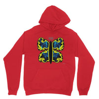 Cosmic Yellow Butterfly Heavy Blend Hooded Sweatshirt Xs / Red Apparel
