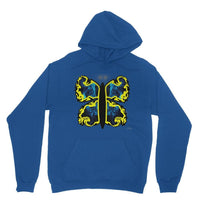 Cosmic Yellow Butterfly Heavy Blend Hooded Sweatshirt Xs / Royal Blue Apparel