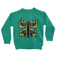 Cosmic Yellow Butterfly Kids Sweatshirt 3-4 Years / Jade Apparel