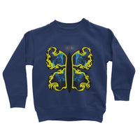 Cosmic Yellow Butterfly Kids Sweatshirt 3-4 Years / New French Navy Apparel