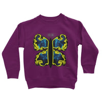 Cosmic Yellow Butterfly Kids Sweatshirt 3-4 Years / Plum Apparel