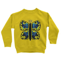 Cosmic Yellow Butterfly Kids Sweatshirt 3-4 Years / Sun Apparel