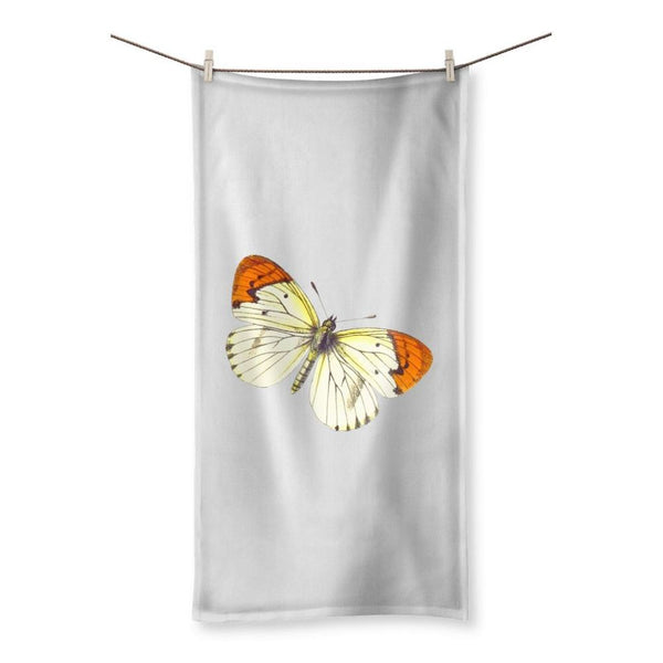Cream Orange Butterfly Beach Towel 19.7X39.4 Homeware