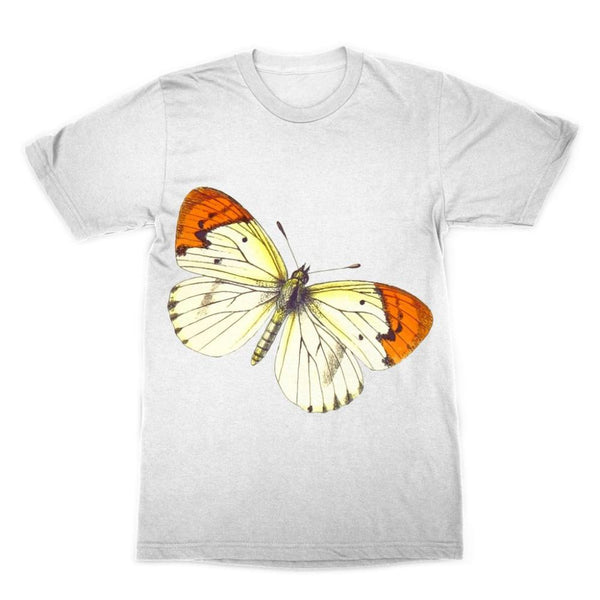 Cream Orange Butterfly Sublimation T-Shirt Xs Apparel