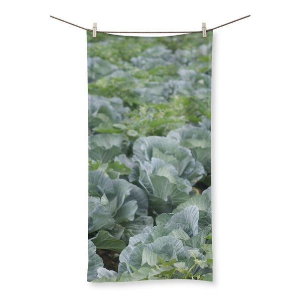 Crops Of Cabbage Beach Towel 19.7X39.4 Homeware
