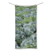 Crops Of Cabbage Beach Towel 31.5X63.0 Homeware