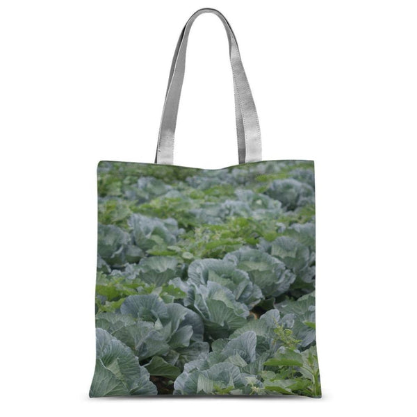 Crops Of Cabbage Sublimation Tote Bag 15X16.5 Accessories