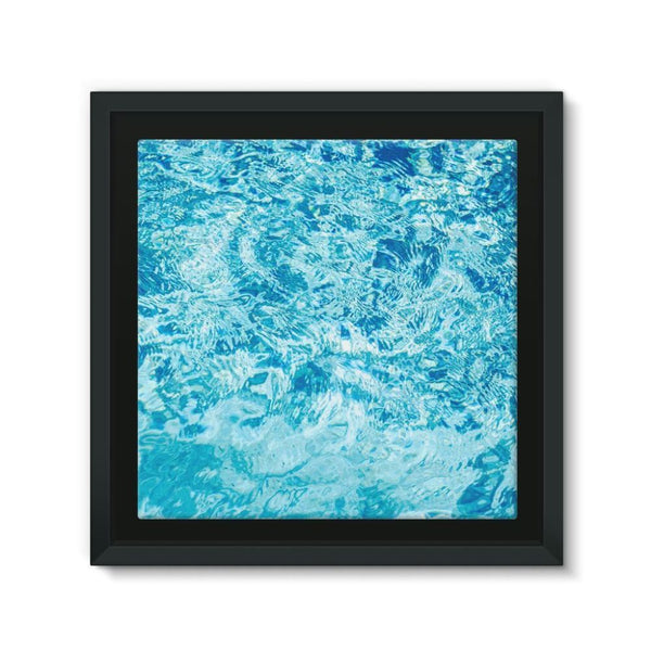 Crystal Blue Water Framed Eco-Canvas 10X10 Wall Decor